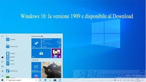 Windows 10: la versione 1909 e disponibile al Download
