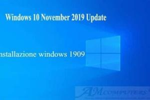 Come installare windows 10 November 2019 Update