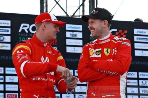 F1 Ferrari: Mick Schumacher a Vettel