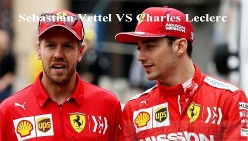 F1: Confronto Sebastian Vettel e Charles Leclerc
