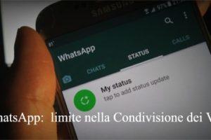 WhatsApp: imposta un limite nella Condivisione dei Video