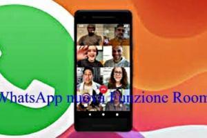 WhatsApp nuova Funzione Room per videochiamate di Gruppo
